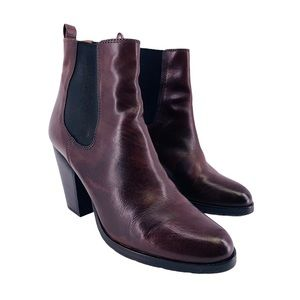 Frye Tate Chelsea Heeled Whiskey Leather Boots